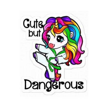 Cute But Dangerous Ny Karate Unicorn Sticker Designed By Suettan