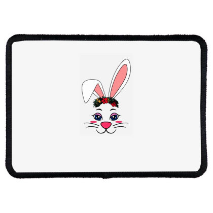 Easter Bunny Rabbit Ear Rectangle Patch Designed By Suettan