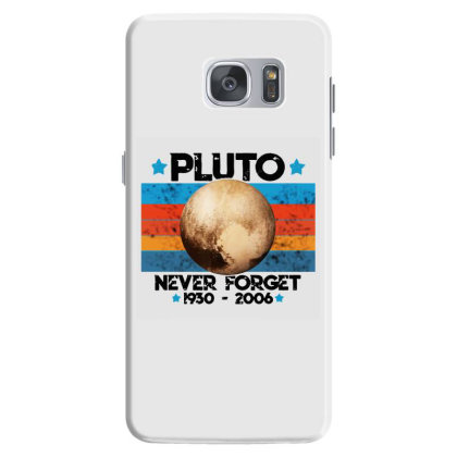 Vintage Never Forget Pluto Nerdy Astronomy Space Science Samsung Galaxy S7 Case Designed By Mirazjason