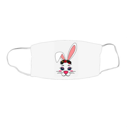 Easter Bunny Rabbit Ear Face Mask Rectangle Designed By Suettan