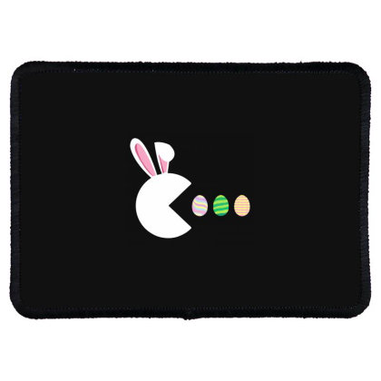 Video Game Bunny Eggs Easter Gamer Rectangle Patch Designed By Mostwanted