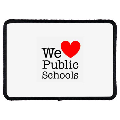 Love Public Education Rectangle Patch Designed By Robertosupeno