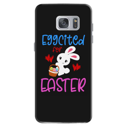 Eggcited For Easter Bunny Egg Hunt Basket Samsung Galaxy S7 Case Designed By Suettan