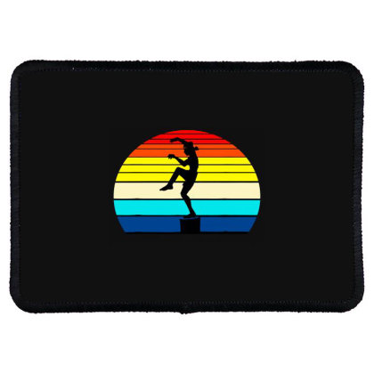 Vintage Karate Martial Arts Rectangle Patch Designed By Mostwanted