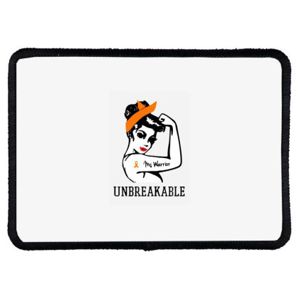 Womens Ms Warrior Unbreakable Rectangle Patch Designed By Mirazjason