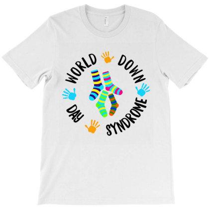 World Down Syndrome Day Awareness Socks Down Right Kids T-shirt Designed By Mirazjason