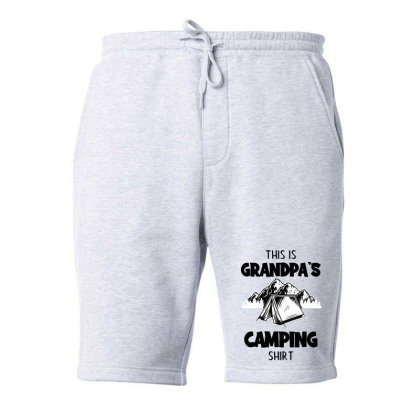Mens This Is Grandpa's Camping Fleece Short Designed By Romeo And Juliet