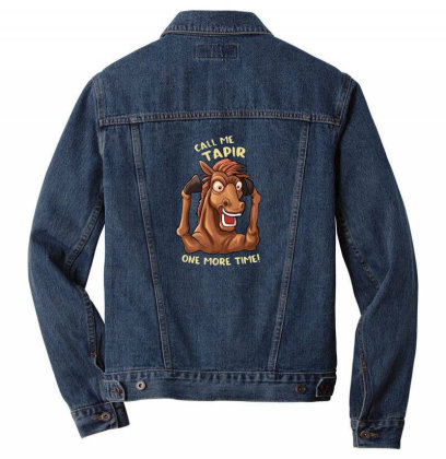 Call Me Tapir Men Denim Jacket Designed By Pollerns