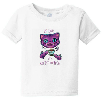 Ceshire Cat Baby Tee Designed By Pollerns