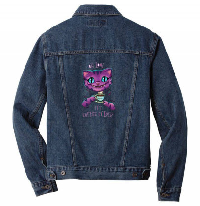 Ceshire Cat Men Denim Jacket Designed By Pollerns