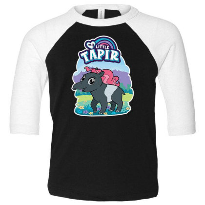 My Little Tapir Toddler 3/4 Sleeve Tee Designed By Pollerns