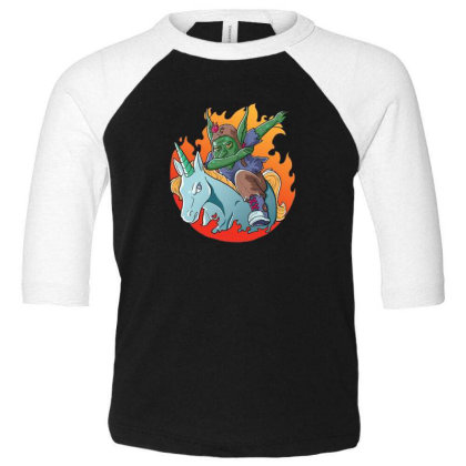 Goblin Dabbing Toddler 3/4 Sleeve Tee Designed By Pollerns