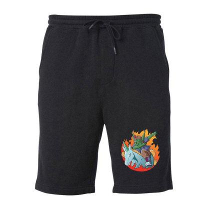 Goblin Dabbing Fleece Short Designed By Pollerns