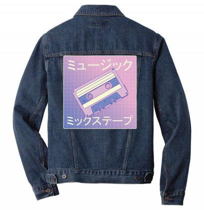 Music Mixtape Men Denim Jacket Designed By Pollerns
