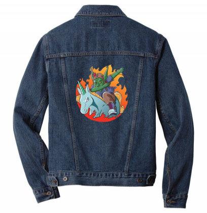Goblin Dabbing Men Denim Jacket Designed By Pollerns