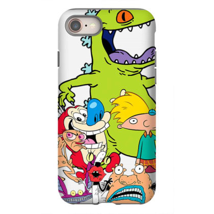 Nick .elod.eon  Throw .back  Retro Character  T Shirt Iphone 8 Case Designed By Tegan8688