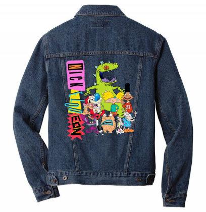 Nick .elod.eon  Throw .back  Retro Character  T Shirt Men Denim Jacket Designed By Tegan8688