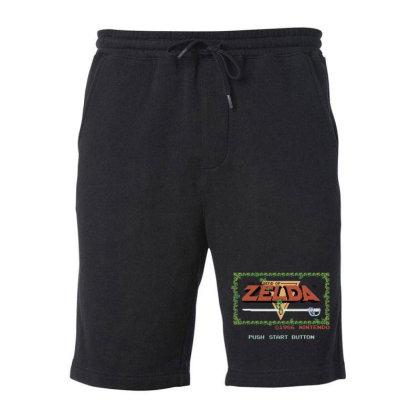 Nin.ten.do  Legend Of Zel Da .  Nes Title Screen T Shirt Fleece Short Designed By Tegan8688
