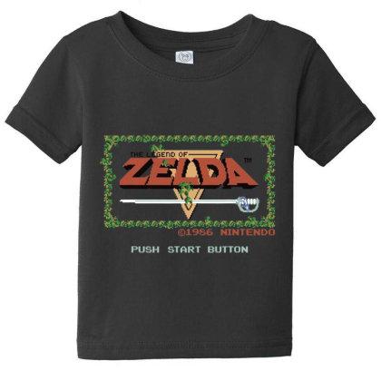 Nin.ten.do  Legend Of Zel Da .  Nes Title Screen T Shirt Baby Tee Designed By Tegan8688