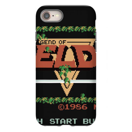 Nin.ten.do  Legend Of Zel Da .  Nes Title Screen T Shirt Iphone 8 Case Designed By Tegan8688