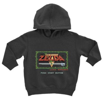 Nin.ten.do  Legend Of Zel Da .  Nes Title Screen T Shirt Toddler Hoodie Designed By Tegan8688
