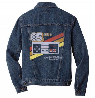Nin.ten.do  Nes  Controller  Retro Stripe 85  T Shirt Men Denim Jacket Designed By Tegan8688