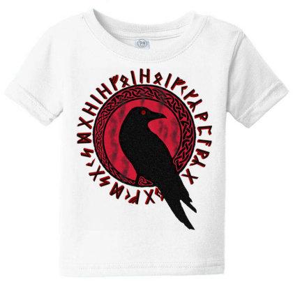 Odin Ra.vens Huginn & Muninn Veg.visir Tshirt,  Vi.kings Myth  T Shirt Baby Tee Designed By Tegan8688