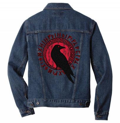 Odin Ra.vens Huginn & Muninn Veg.visir Tshirt,  Vi.kings Myth  T Shirt Men Denim Jacket Designed By Tegan8688