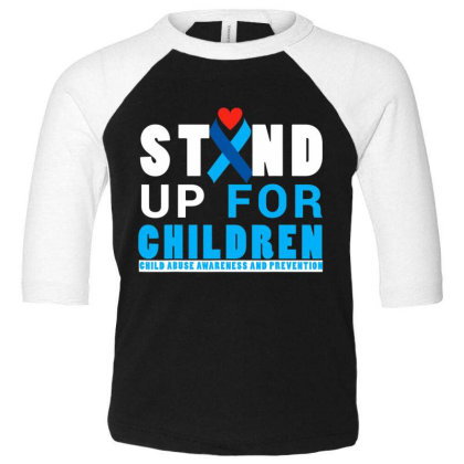 Child Abuse Aware.ness And  Preven.tion Month 2017 T Shirt Toddler 3/4 Sleeve Tee Designed By Tegan8688
