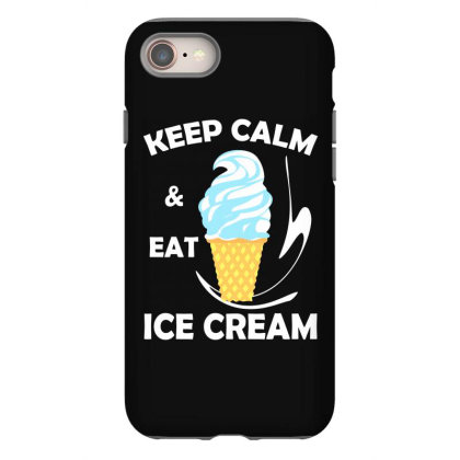 Kawaii Keep Calm And Eat Ice Cream Iphone 8 Case Designed By Vnteees