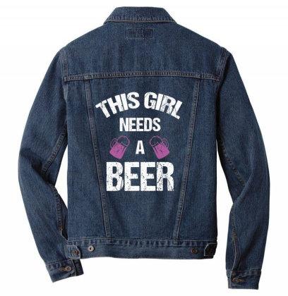 This Girl Needs A Beer Men Denim Jacket Designed By Cypryanus