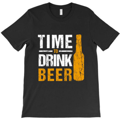 Time To Drink Beer T-shirt Designed By Cypryanus