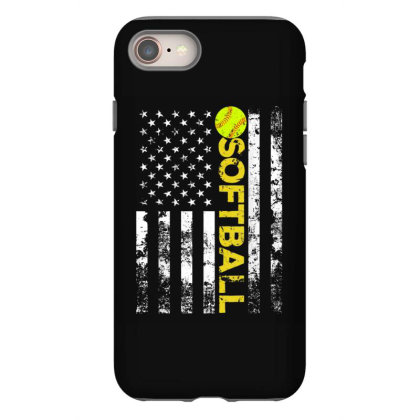 American Flag Softball Team Gift Iphone 8 Case Designed By Amber Petty
