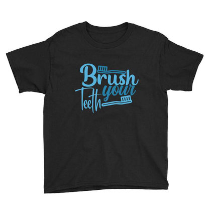 Brush Your Teeth Youth Tee Designed By Gnuh79