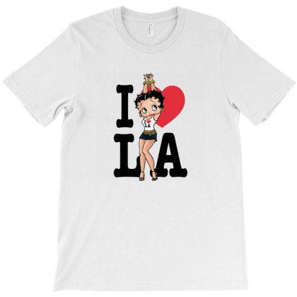 Betty Boop I Heart La T-shirt Designed By Renkuz