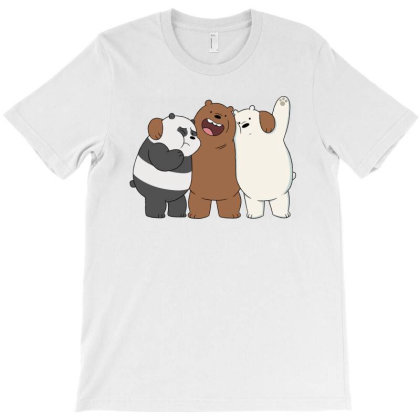 North American Bare Grizzly Bear Panda Brothers T-shirt Designed By Şen