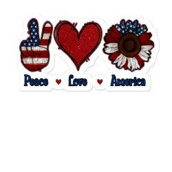 Peace Love America Sunflower Sticker Designed By Apollo