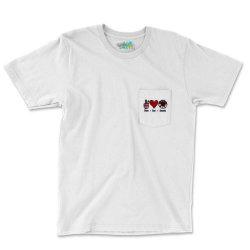 Peace Love America Sunflower Pocket T-shirt Designed By Apollo