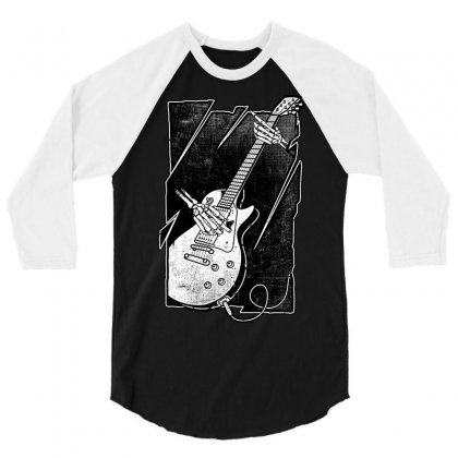 Guitarist 3/4 Sleeve Shirt Designed By Quilimo