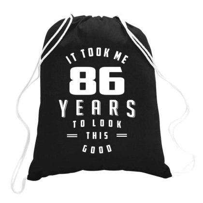 86 Year Old Funny 86th Birthday Drawstring Bags Designed By Cidolopez