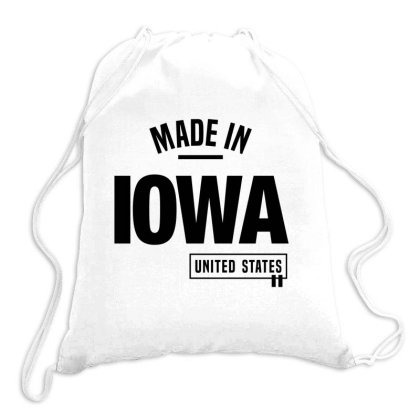 Iowa In United States Drawstring Bags Designed By Chris Ceconello