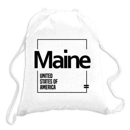 Maine In United States Drawstring Bags Designed By Chris Ceconello
