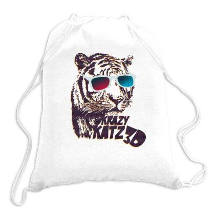 Krazy Katz 3d Drawstring Bags Designed By Şen