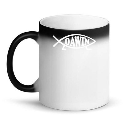 Darwin Fish Logo Science Evolutionist Magic Mug Designed By Dony_store