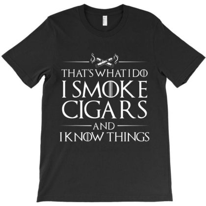 Smoke Cigars Smoker Shirt   Ideal Clever Class Men Gift T Shirt T-shirt Designed By Hi313