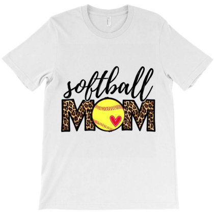 Softball Mom Leopard Funny Baseball Mom Mother's Day 2021 T Shirt T-shirt Designed By Hi313