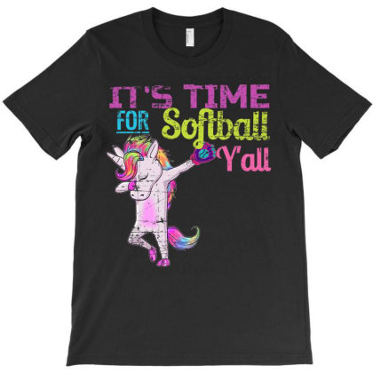 Softball Shirt Girls Dabbing Uni  Softball Y' All  T Shirt T-shirt Designed By Hi313