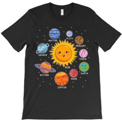 So.lar Sys.tem Spa Pla.nets For Stem Kids Boys Girls  T Shirt T-shirt Designed By Wened313