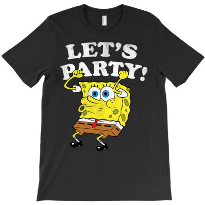 Spon.ge.bob  Squ Are.pants  Lets Party  T Shirt T-shirt Designed By Wened313