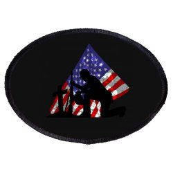 Memorial Day Soldier Oval Patch Designed By Akin